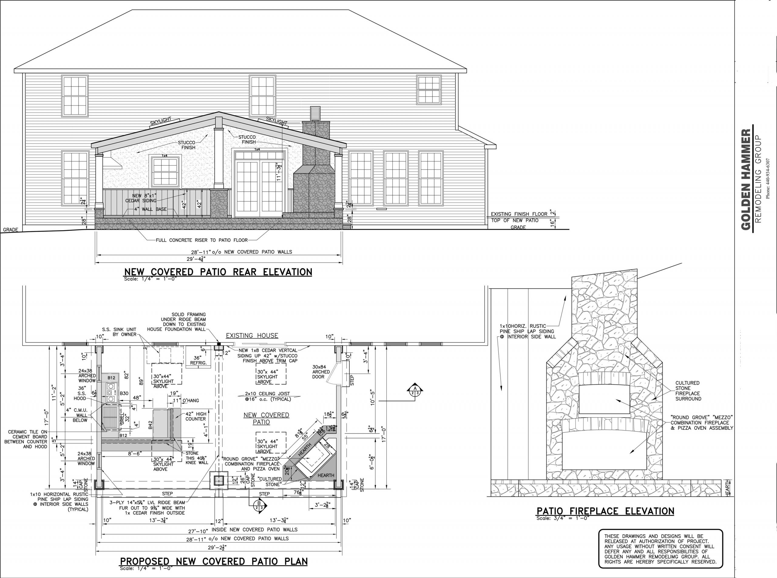 proposed new covered patio plan