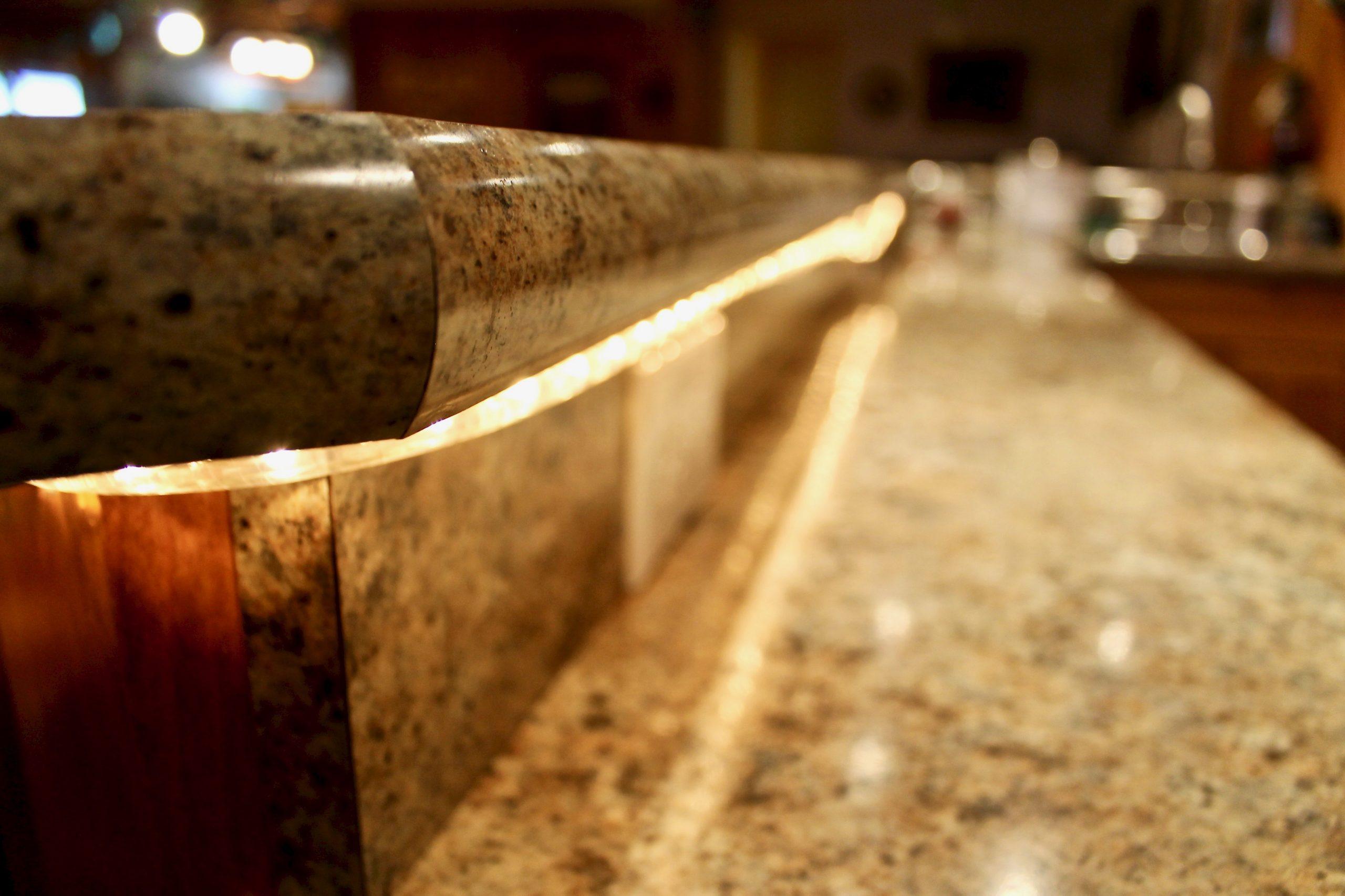 Basement Bar countertop After