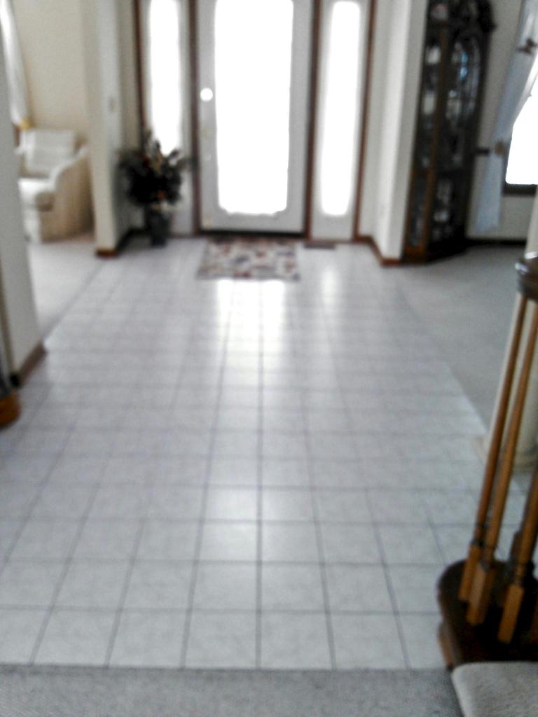 Hardwood floor before remodel