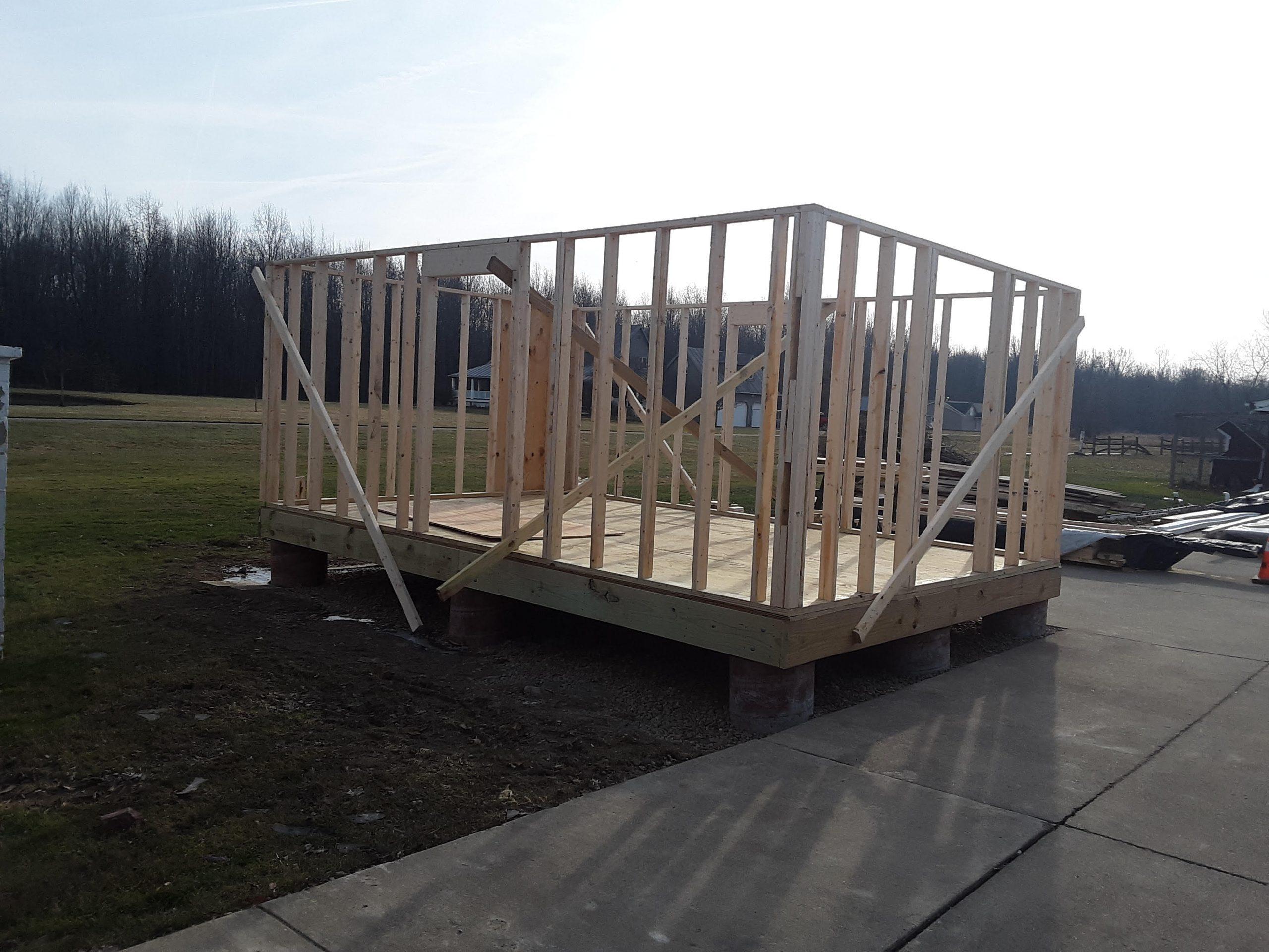 kemper shed framing