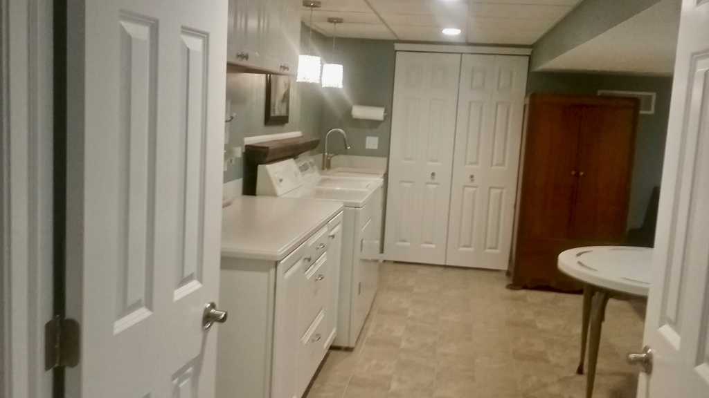 remodeled laundry room