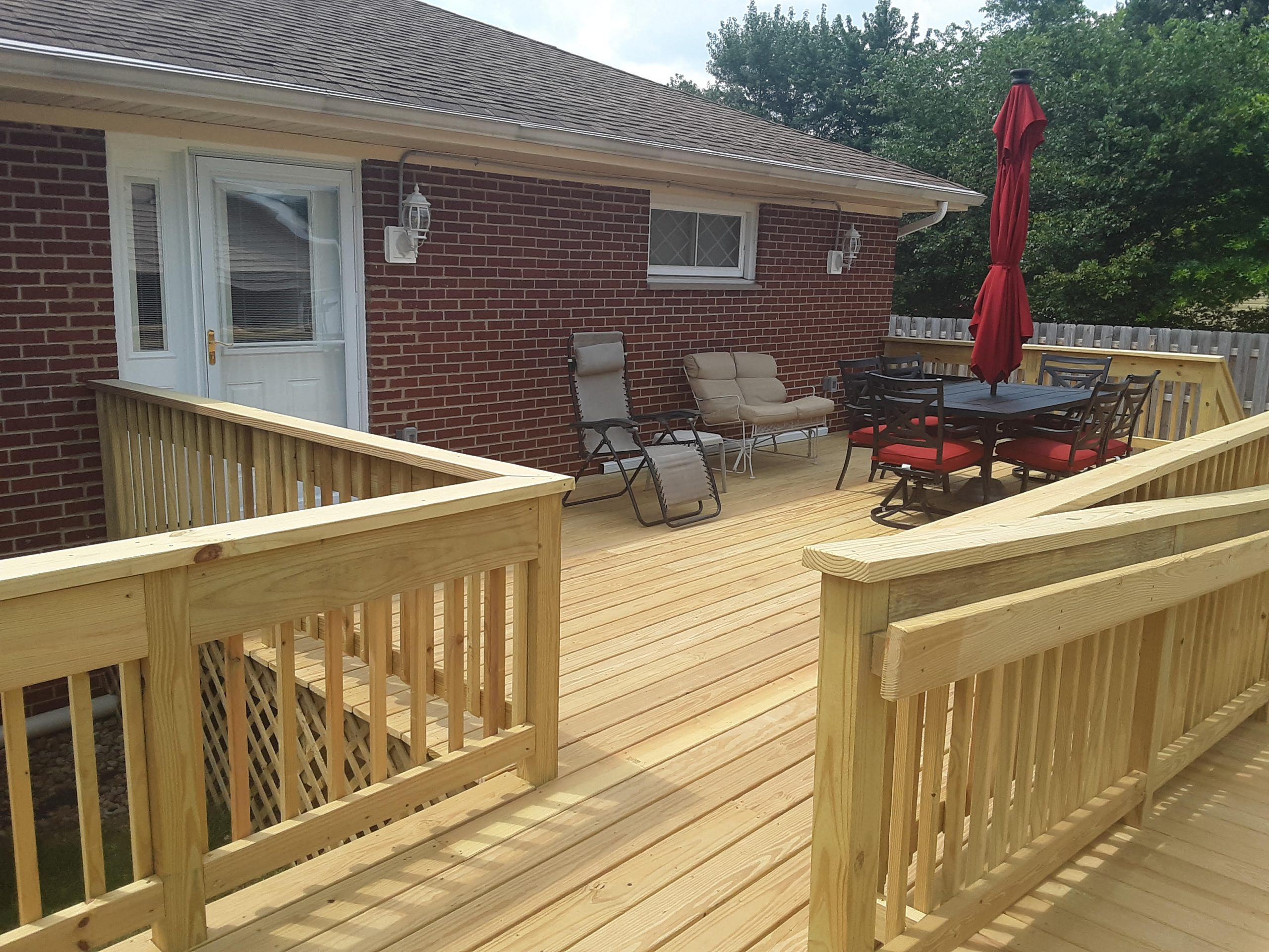 rear deck after with outdoor furniture
